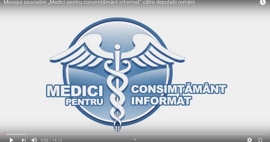 """Mesajul asociației """"Medici pentru consimțământ informat"""" către deputații români"""